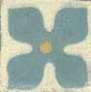 t.dec.flor III marf, turquesa,ouro