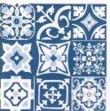 patchwork  tons de azul   20x20
