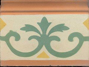 rod.flor 3 pontas ,vd forte,m,am.ouro e tijolo 15x20