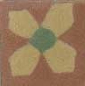 t.dec. flor I brick verde forte mostarda