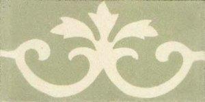 barra flor 3 pontas verde desm. e marfim