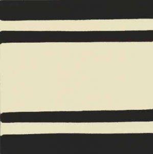 faixa reta larga III preto e marfim