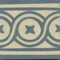 faixa. flor 2 azul aciz. marfim