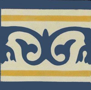 F.flor de lotus f. marfim flor azul colonail e am. ouro Adriana