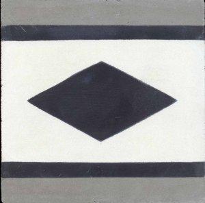 Cópia de Faixa Losangulo preto , branco e cinza
